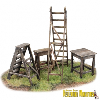 ladders and trestles