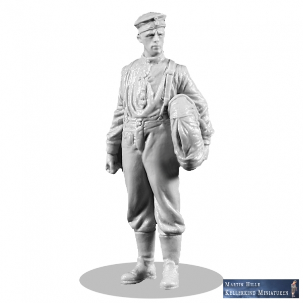 mechanic with Heinecke-parachute